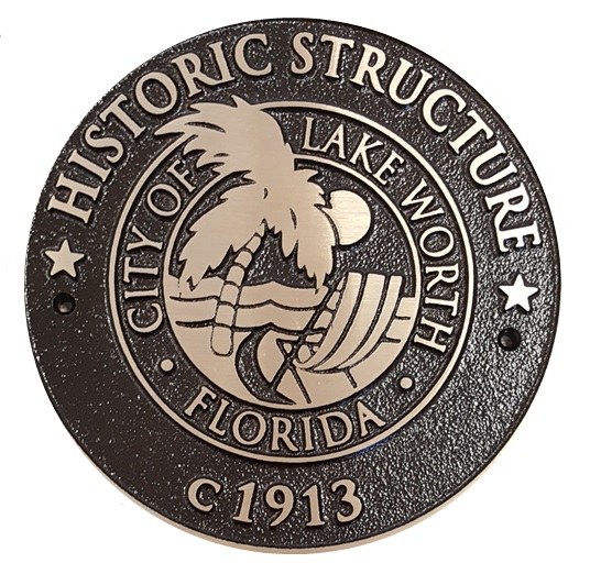 Lake worth beach seal of local historical place