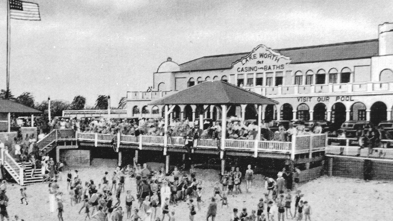 Old photo of lake worth casino