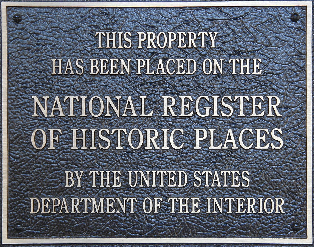 door plaque for seal of national historical place