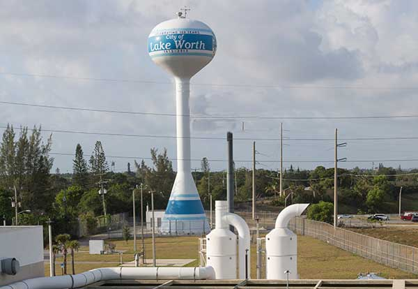 photo of the lake worth beach water tower