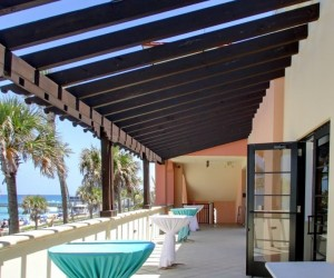 Image of Lake Worth Beach casino building back patio area
