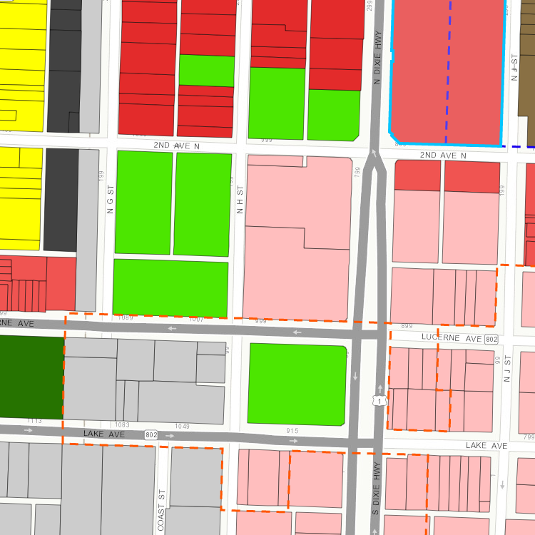 Map of Zoning Districts